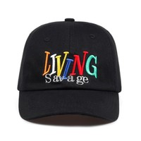 """living savage"" dad hat"