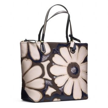 Coach :: Poppy Flower Tote In Elevated Leather