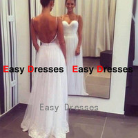 Long dress backless dress straps dress Prom dress Bridesmaid dress Fashion dress Party Evening Dresses 2014