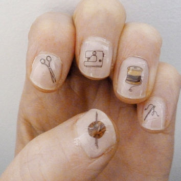 craft nail transfers by katebroughton on Etsy