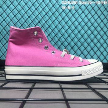AUGUAU Converse 2018 Global 1970S High Canvas Skate Shoes Pink
