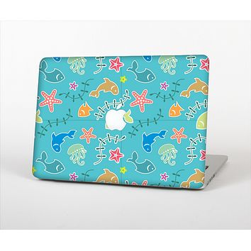 "The Colorful Cartoon Sea Creatures Skin Set for the Apple MacBook Pro 13"" with Retina Display"
