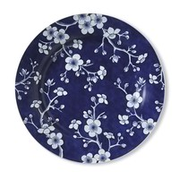 French Blue Bouquet Dinner Plates, Set of 4, Blossom