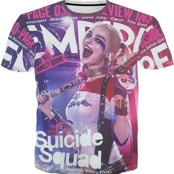 12 Styles Hot Suicide Squad 3D Cosplay T-shirts Arkham Asylum Harley Quinn Joker Tees Tops T-shirt Unisex Casual Costume Shirts