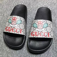 GUCCI  Fashion New Badminton Racket More letter Print Flip Flop Slippers Shoes
