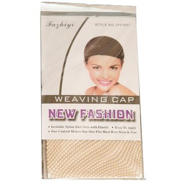 Free Shipping Hotsale 50 Pcs Blonde Color New Fishnet Wig Cap Stretchable Elastic Hair Net Snood Wig Cap/ Wig Cap Hair Extensions & Wigs Hair-net