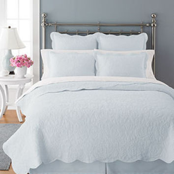 Martha Stewart Collection Bedding, Damask Trace Quilts - Quilts & Bedspreads - Bed & Bath - Macy's