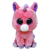 TY Beanie Boos - MAGIC the Pink Unicorn (Glitter Eyes) (Medium Size - 9 inch)