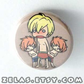 Ouran Host Club - Beach Scene Button