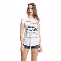 White Sound Project Short Sleeve Graphic Tee