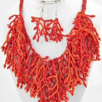 Coral Reef Inspired Necklace