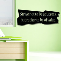 Vinyl Wall Decal Sticker Success Strive Quote #5365
