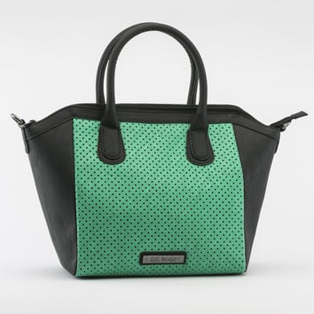 Perforated Star Tote in Aqua