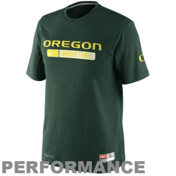 Nike Oregon Ducks Team Issued Performance Practice T-Shirt - Green