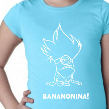 Minions // Bananomana // Girls Shirts // Multi Colors and Sizes Available