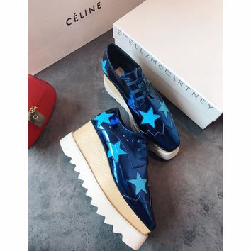 Celine STELL McC RTNEY Star Shoes Collection Classic Women's Shoes blue