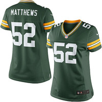 Women's Nike Green Bay Packers Clay Matthews Limited Team Color Jersey