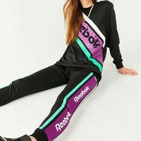 Reebok Black Striped Sweatpant