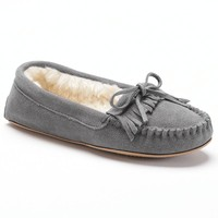 SONOMA life + style Women's Leather Moccasin Slippers
