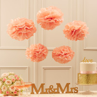 Free Shipping 5pcs 20cm(8 inch) Tissue Paper pom Poms Wedding Party Paper pompom Flower For Wedding Decoration pompoms  pom pom