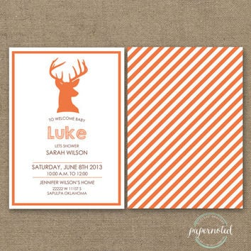 Deer Baby Shower Invitation (DIY Printables)