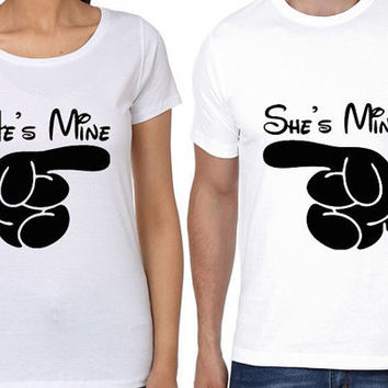 f5c135c887 He is Mine Women T shirt | She is Mine Men T shirt | Couple T Sh. Women Tees