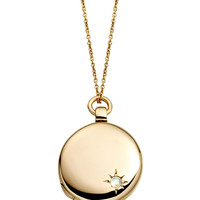 14k Gold Astley Locket Necklace with Moonstone - Astley Clarke