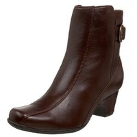 Clarks Artisan Women`s Dara II Boot,Dark Brown Leather,10 N US