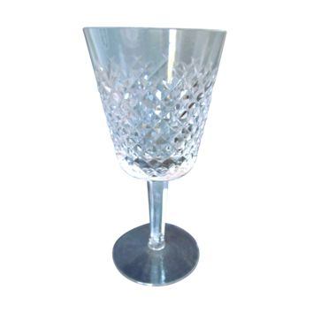 "Waterford Crystal 5 7/8"" Alana Pattern Claret Wine Goblet"