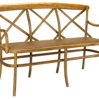 French Heritage, Bosquet Three-Seater Bench, Entryway Bench, Bedroom Bench