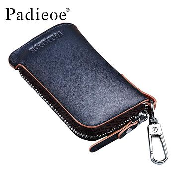 Genuine Leather Fashion Men Key Bag High Quality Key Chain Organizer Housekeeper Hot Coin Purse Men's Key Holder