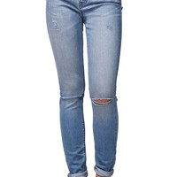 Gypsy Warrior High Rise Skinniest Slit Jeans - Womens Jeans - Blue -