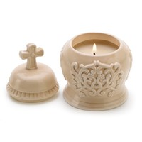 Ceramic Amber Scented Cathedral Candle Decor