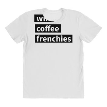 wifi, coffee, frenchies All Over Women's T-shirt