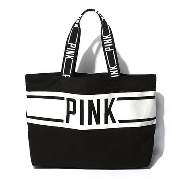 Ladies Canvas Tote Bag Alphabet Beach Bag [12149128851]