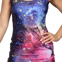 Galaxy Blue Sleeveless Min Dress Design 3086