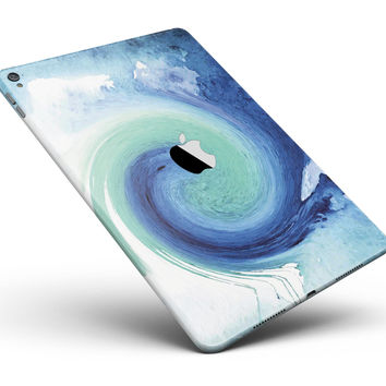 "Blue and Teal Watercolor Swirl Full Body Skin for the iPad Pro (12.9"" or 9.7"" available)"