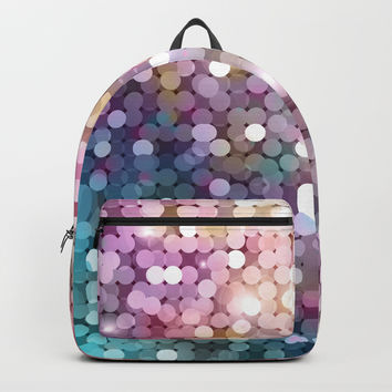 Rainbow glitter texture Backpack by printapix