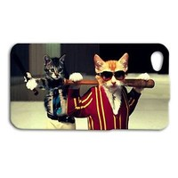 Hip Cats with Baseball Bats Cute Funny Phone Case iPhone 4 4s 5 5c iPhone 5s 6 +
