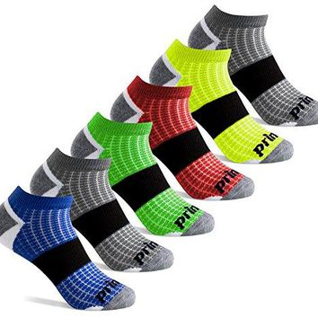 Prince Boys' Low Cut Athletic Socks for Active Kids (6 Pair Pack) - White, 9-2.5