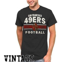 Nfl San Francisco 49Ers Vintage Team Arch T-Shirt - Charcoal [Small]