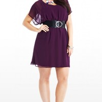 Plus Size Photo Finished Belted Dress | Fashion To Figure