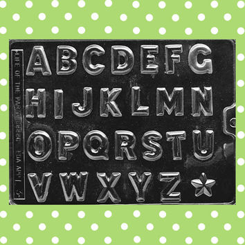 Classic Alphabet Chocolate Mold