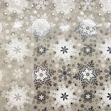 Christmas Gift Wrap Wrapping Paper, Silver Snowflake (6 Jumbo Rolls 10ft x 30in)