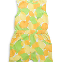Rosie Pope Baby Green & Orange Lemon Pocket Romper | zulily