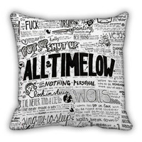 all time low quote lyrics pillow case cushion cover sofa cute
