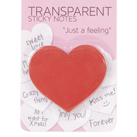 Heart Sticky Notes - Red