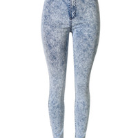 Light Blue Snow Wash Skinny Jeans