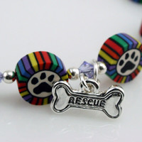 Paw Print Rescue Bracelet Gifts Under 30
