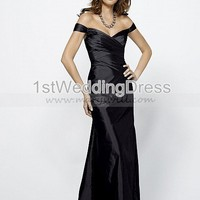 Bridal Party Dresses - Taffeta off the shoulder A-line Dress 1633 - Wedding Party - Wedding Apparel - Affordable Wedding Dresses Manufacturer